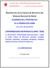 Aportaciones Asem al Real Decreto de la cartera de servicios del sistema nacional de salud del año 2015. Abre en una nueva ventana.