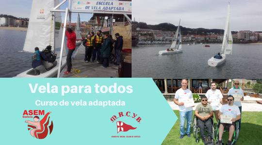 Vela Adaptada del Monte Real Club de Yates de Baiona por Asem Galicia